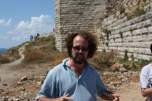Art history professor Owen Doonan at the site of ancient Sinop. Behind him are 2,200-years-old walls. Photo by Gregory Thoma